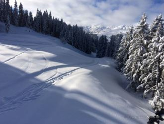 Fresh tracks in the powder, Méribel, France