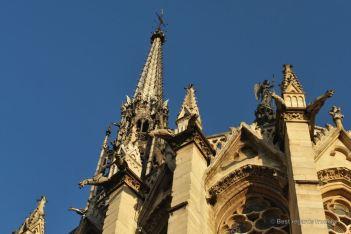 Saint Chapelle's characteristic Gothic architecture