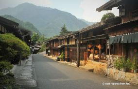 Play of light in the main street of Tsumago