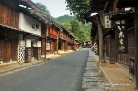 Barren street in Tsumago