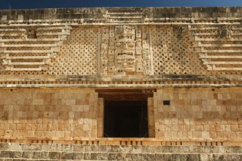 Details of the Quadrangle of the Nuns in typical Puuc architectural style, Uxmal, Mexico