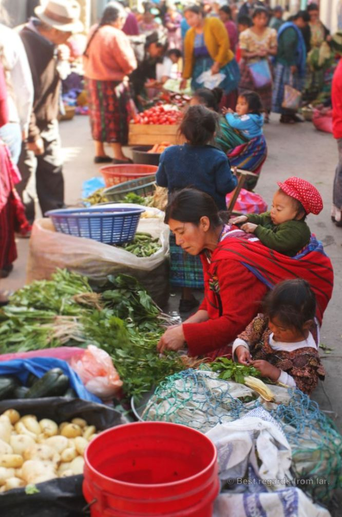 The very typical market of Totonicapan, Guatemala