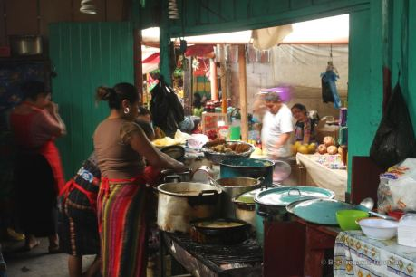 A typical comedor on the market in Solola, Guatemala