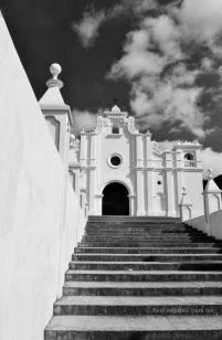 The white church of Apaneca, El Salvador