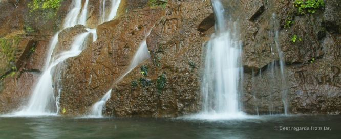 Close-up of the waterfalls of Chorros de la Calera, El Salvador