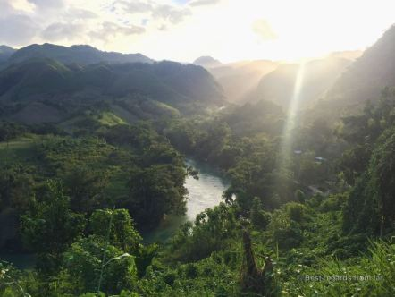 Sunset over the stunning setting of Semuc Champey