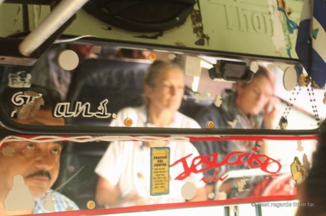 The bumpy busride to the Miraflor Reserve, Nicaragua