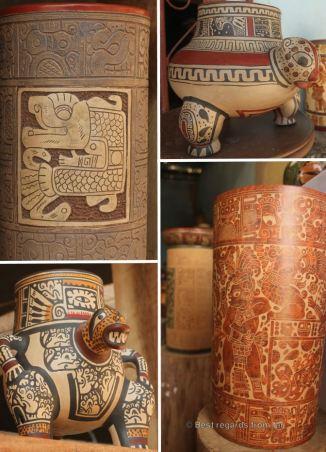 A sample of the Pre-Colombian style art of Don Espinoza, San Juan de Oriente, Nicaragua