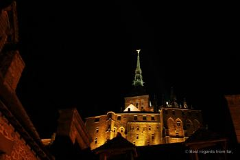 The Mont Saint Michel by night, France