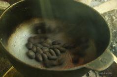Roasting the cacao beans, Bocas del Toro, Panama