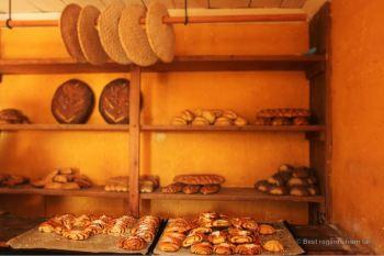Traditional bakery with delicious kanelbullar, Skansen, Stockholm
