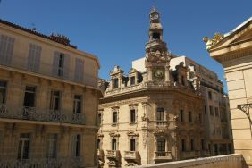 The 19th century architecture from the terrace of the opera house, Toulon