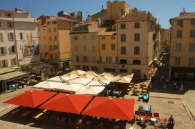 The view from the terrace of the opera house, Toulon