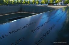 9/11 memorial, NYC: never forget.