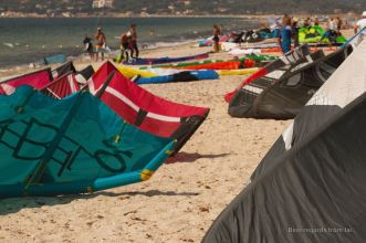 Getting ready for the wind at L'Almanarre, French Riviera