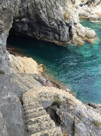 The staircase of Escampo Bariou, Giens peninsula, French Riviera