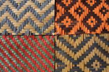 A few bamboo weaving motifs for a placemat