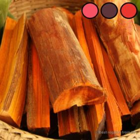 Natural dyeing: boil the wood of the sappan tree and ferment with rusty nails for purple, limestone for red and ashwater for pink