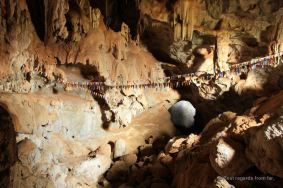 The Tham Sa Pha In cave with its sacred water, the loop, Laos