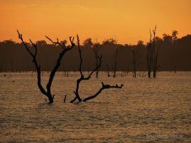 Sunset on the Nakai lake at Thalang, the loop, Laos