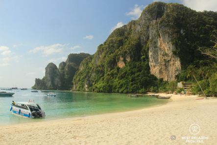 The dramatic cliffs overlooking Tonsai Bay, Koh Phi Phi, Thailand