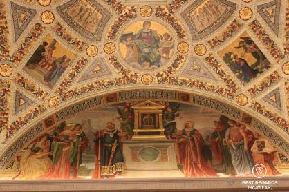 The ceiling of the Rotunda, Morgan Library, New York City