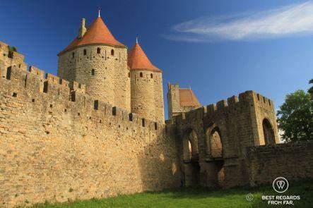 Porte Narbonnaise, cité de Carcassonne, France