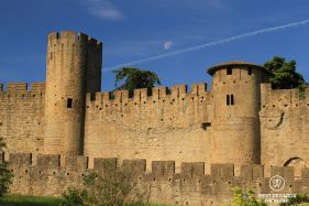 The medieval city of Carcassonne with its Roman and medieval ramparts, France