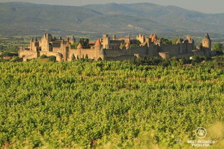 The old city of Carcassonne, France