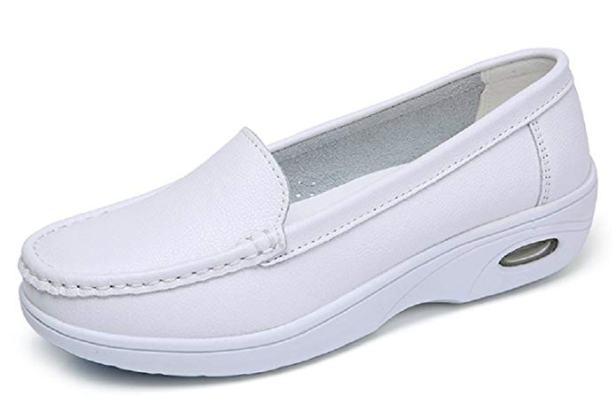 all white nursing shoes