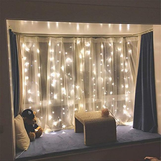 twinkle star 300 led window curtain string light review