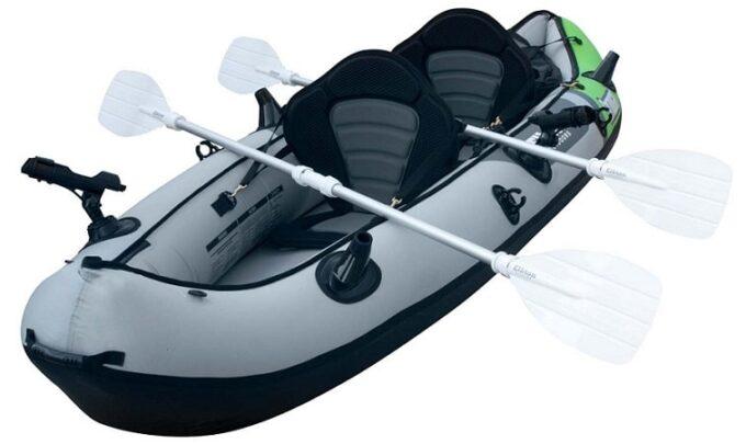 Elkton Cormorant Tandem Inflatable Fishing Kayak