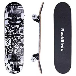 RockBirds Skateboards 31-inch Pro Complete Skateboard