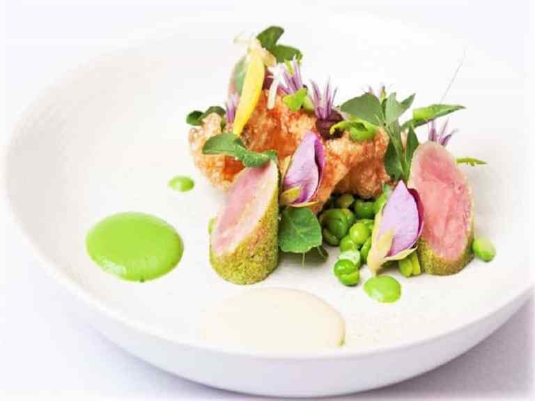 Salad Recipe with Ham cook, Pea, and Mint