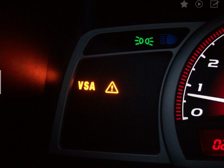2006 honda odyssey vsa warning light stays on
