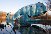 The Big Blue Whale along Route 66 in Catoosa, OK