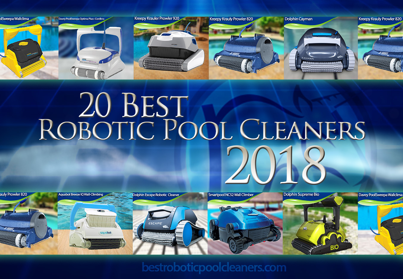 20 best robotic pool cleaners 2018