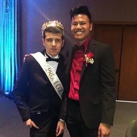 Prom King Edgar (left) with Shaun (right) on prom night, March 16. Photo by Ashlee VanEss)