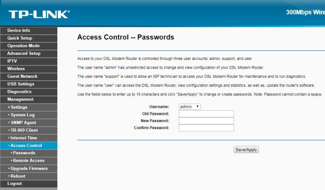 طريقة تغيير كلمة السر الخاص بصفحة الدخول للراوتر