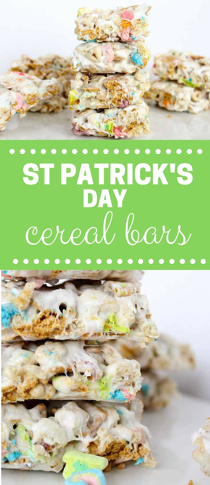 st patricks day cereal bar