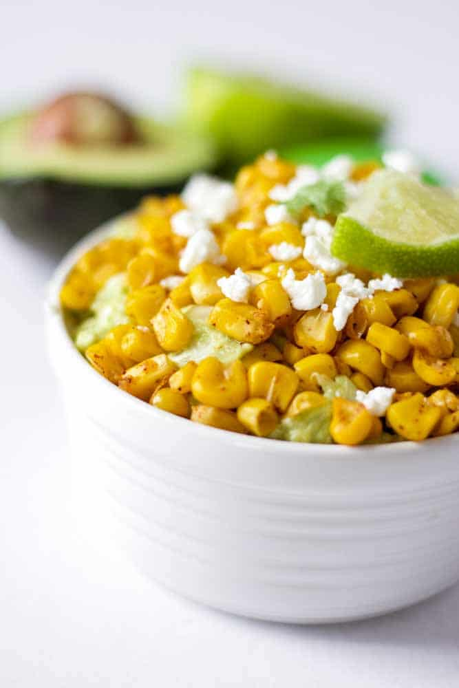 Roasted Corn and Goat Cheese Guacamole | What Molly Made
