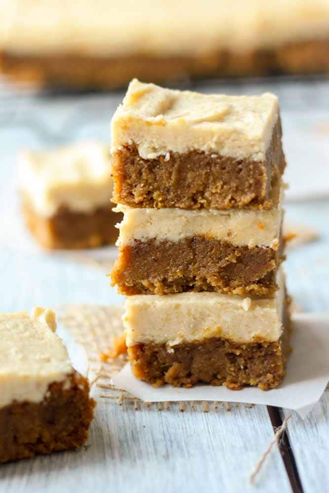 paleo pumpkin bars with maple frosting10