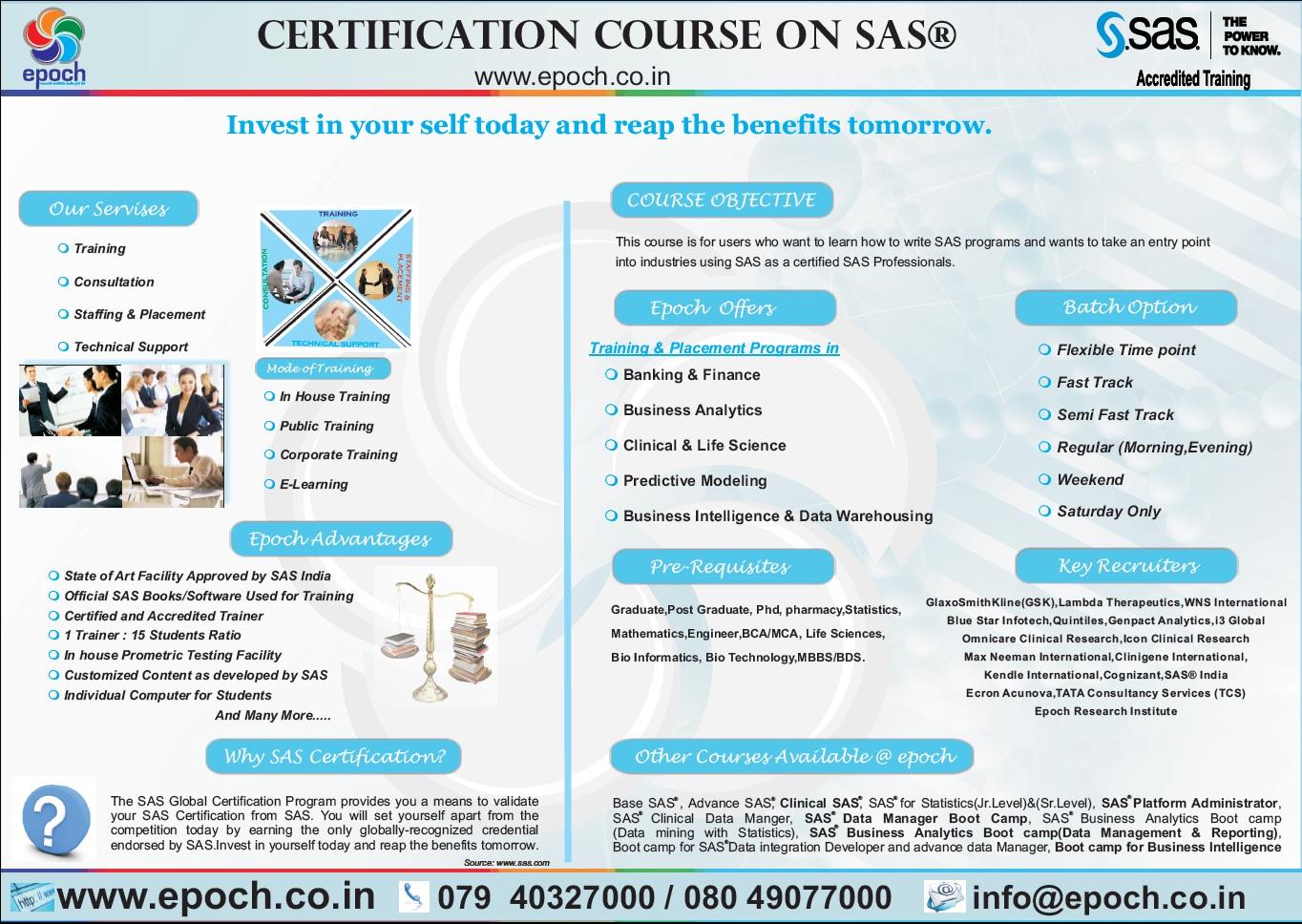 Sas Certification Course Tutore