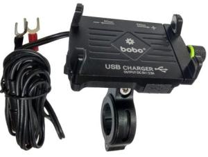 BOBO Waterproof mobile holder mount with charger
