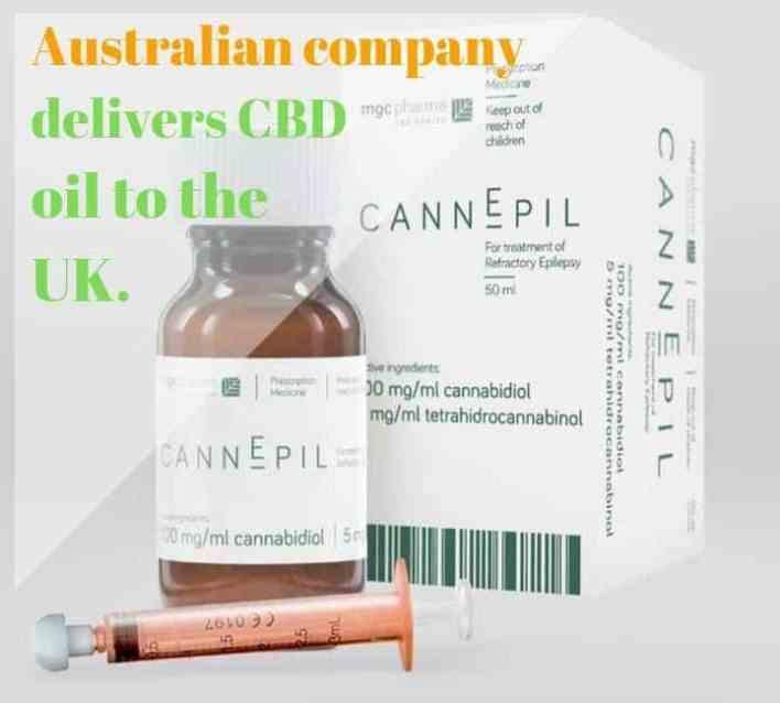 Australian company delivers CBD oil to the UK.