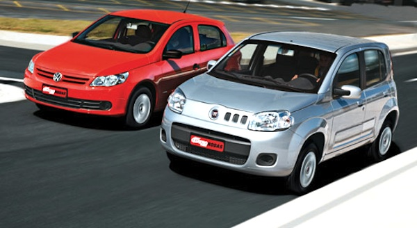 Brazil December 2011 Fiat Uno Edges Out Vw Gol For The 2nd Time