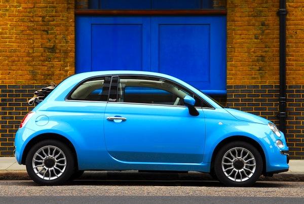 Fiat 500 England July 2013