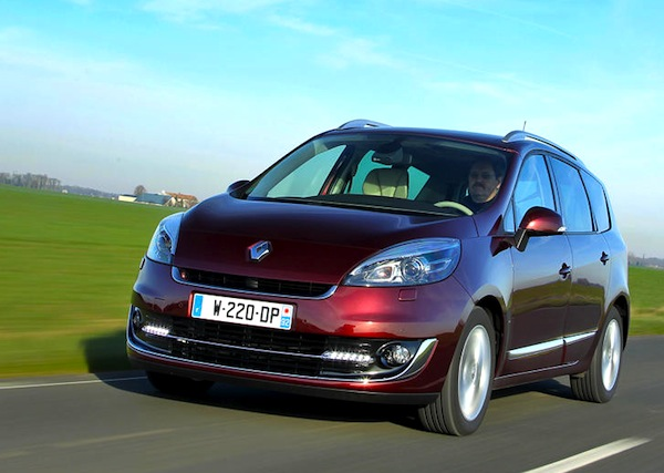 belgium lease cars full year 2012 renault megane scenic. Black Bedroom Furniture Sets. Home Design Ideas