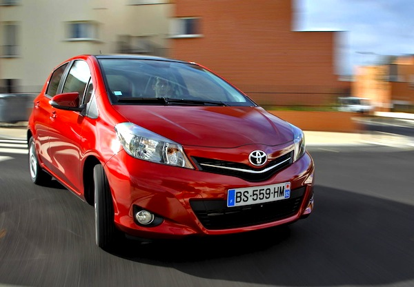 Toyota Yaris Greece January 2014. Picture courtesy of largus.fr