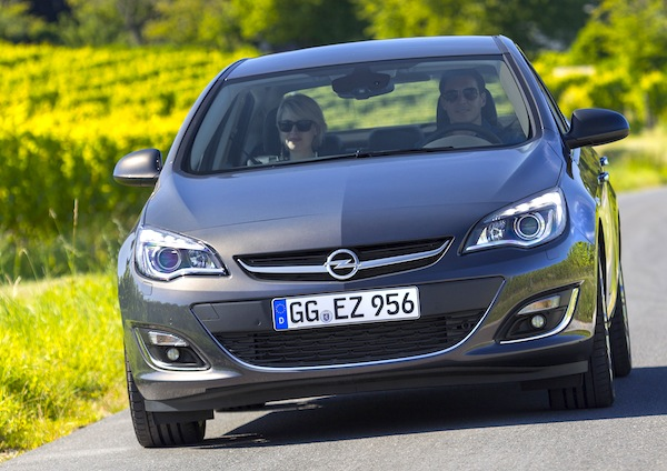 Opel Astra Spain February 2014